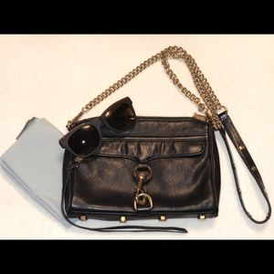 Rebecca Minkoff Mini MAC Black Leather Satchel
